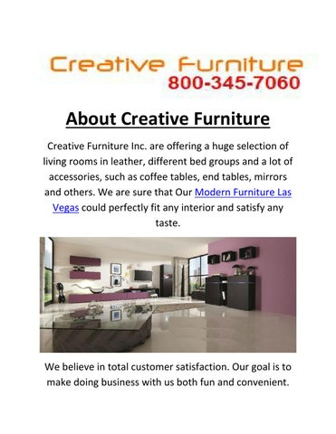 About Creative Furniture Creative Furniture Inc. Are Offering A Huge  Selection Of Living Rooms In Leather, Different Bed Groups And A Lot Of  Accessories, ...