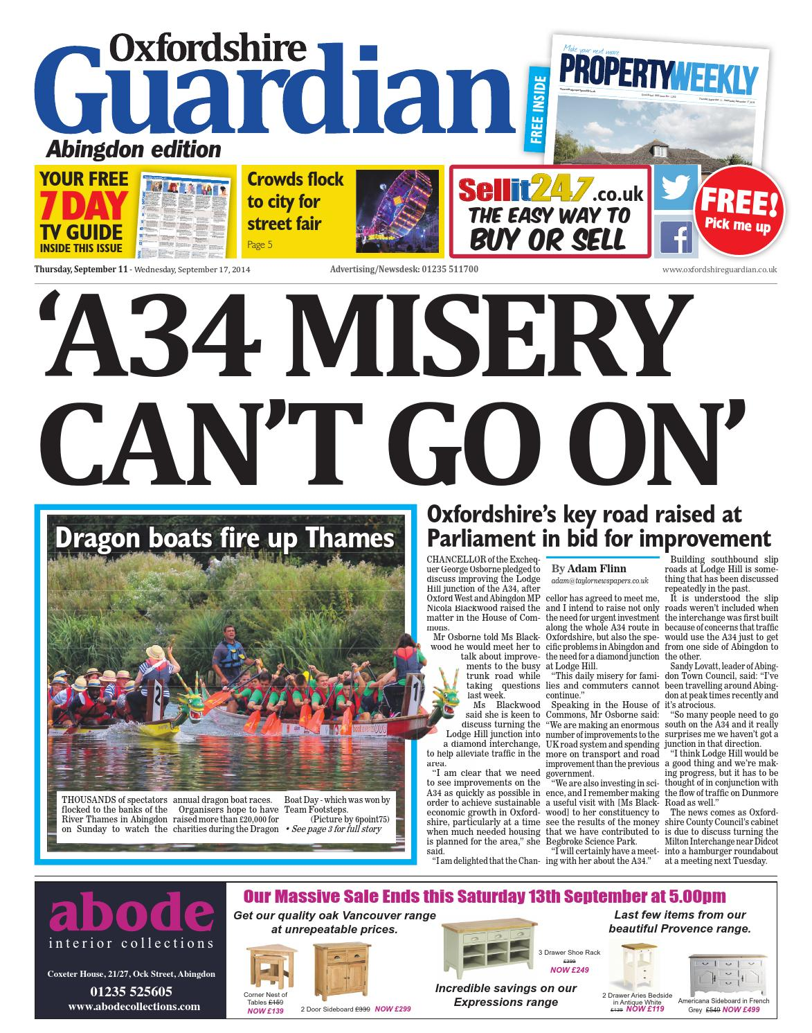 11 september 2014 oxfordshire guardian abingdon by taylor newspapers 11 september 2014 oxfordshire guardian abingdon by taylor newspapers issuu fandeluxe Gallery
