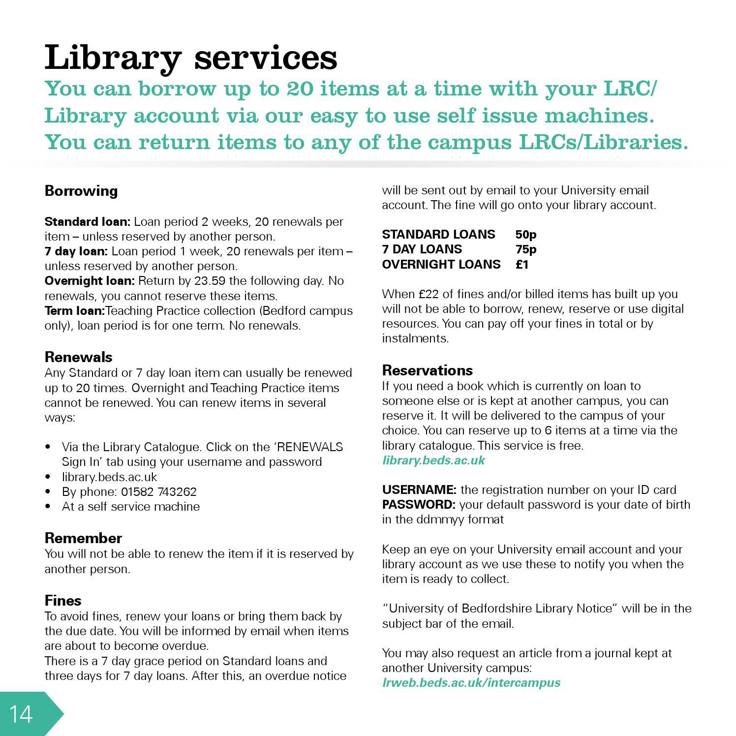 Library Handbook 2014/15 by University of Bedfordshire - issuu