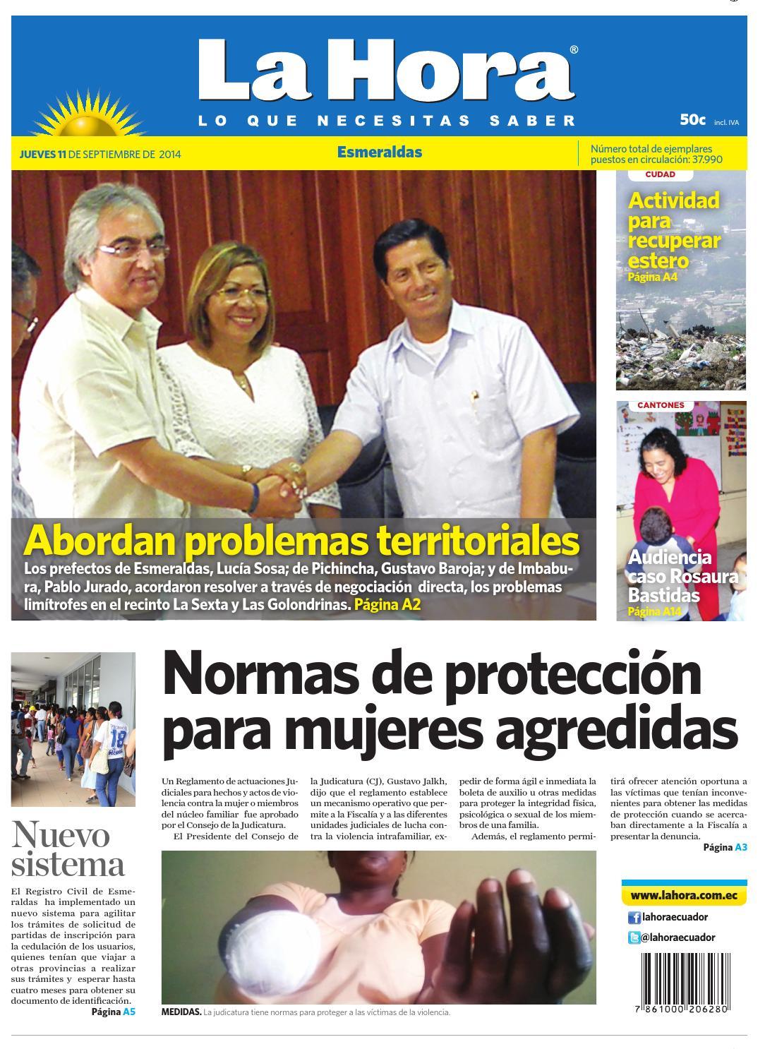 Esmeraldas 11 septiembre 2014 by Diario La Hora Ecuador - issuu