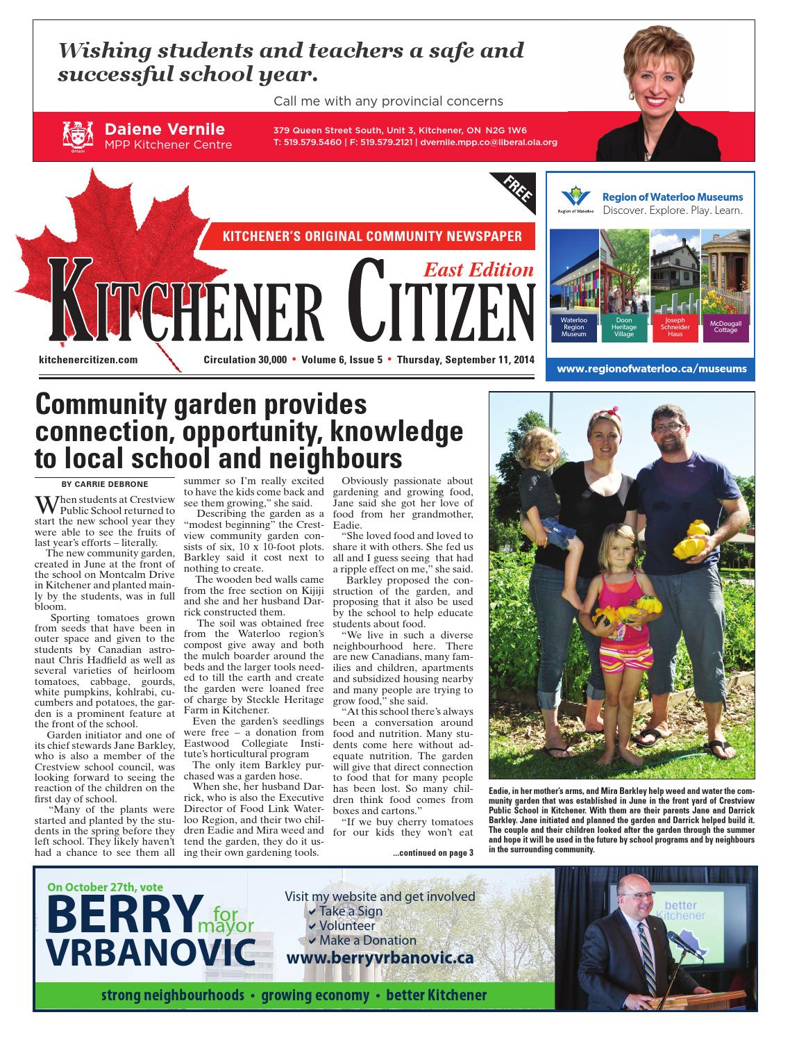 Kitchener Citizen - East Edition - September 2014 by Kitchener ...