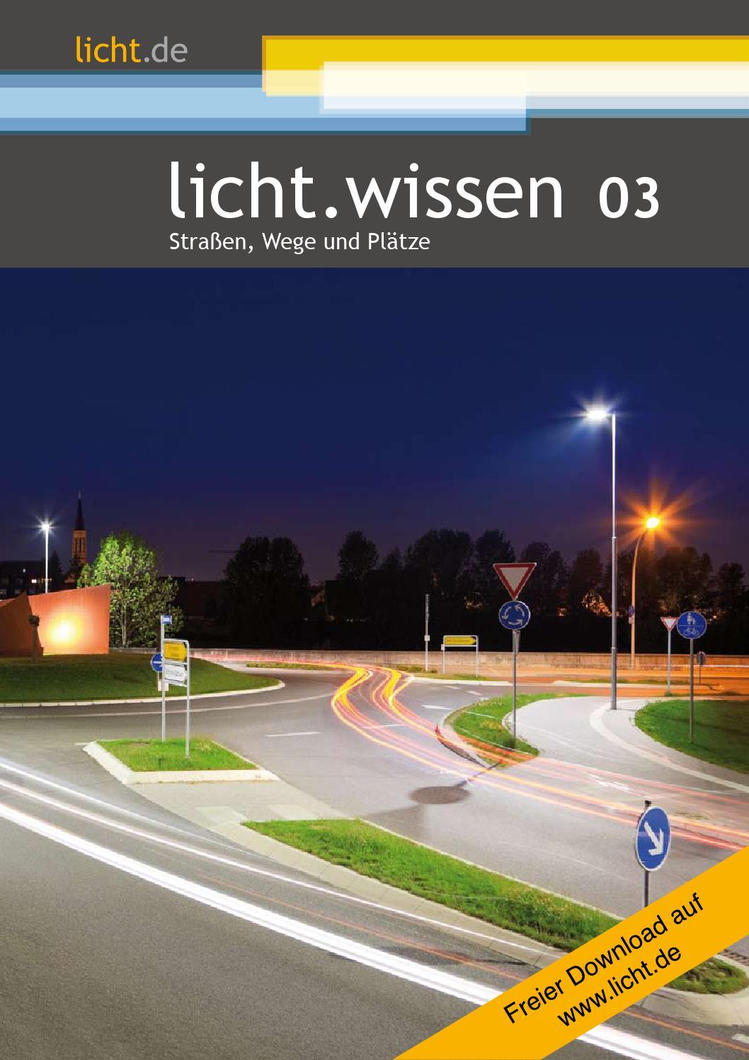 """licht.wissen 8 """"Straßen, Wege und Plätze"""