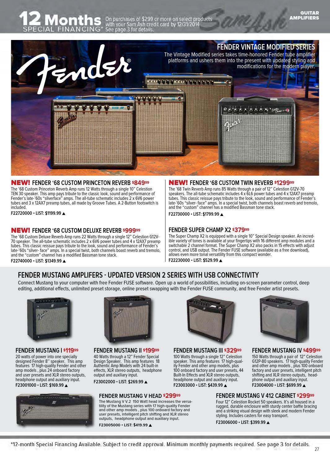 Fall 2014 Sam Ash Music Gear Guide by Sam Ash Music Corp  - issuu