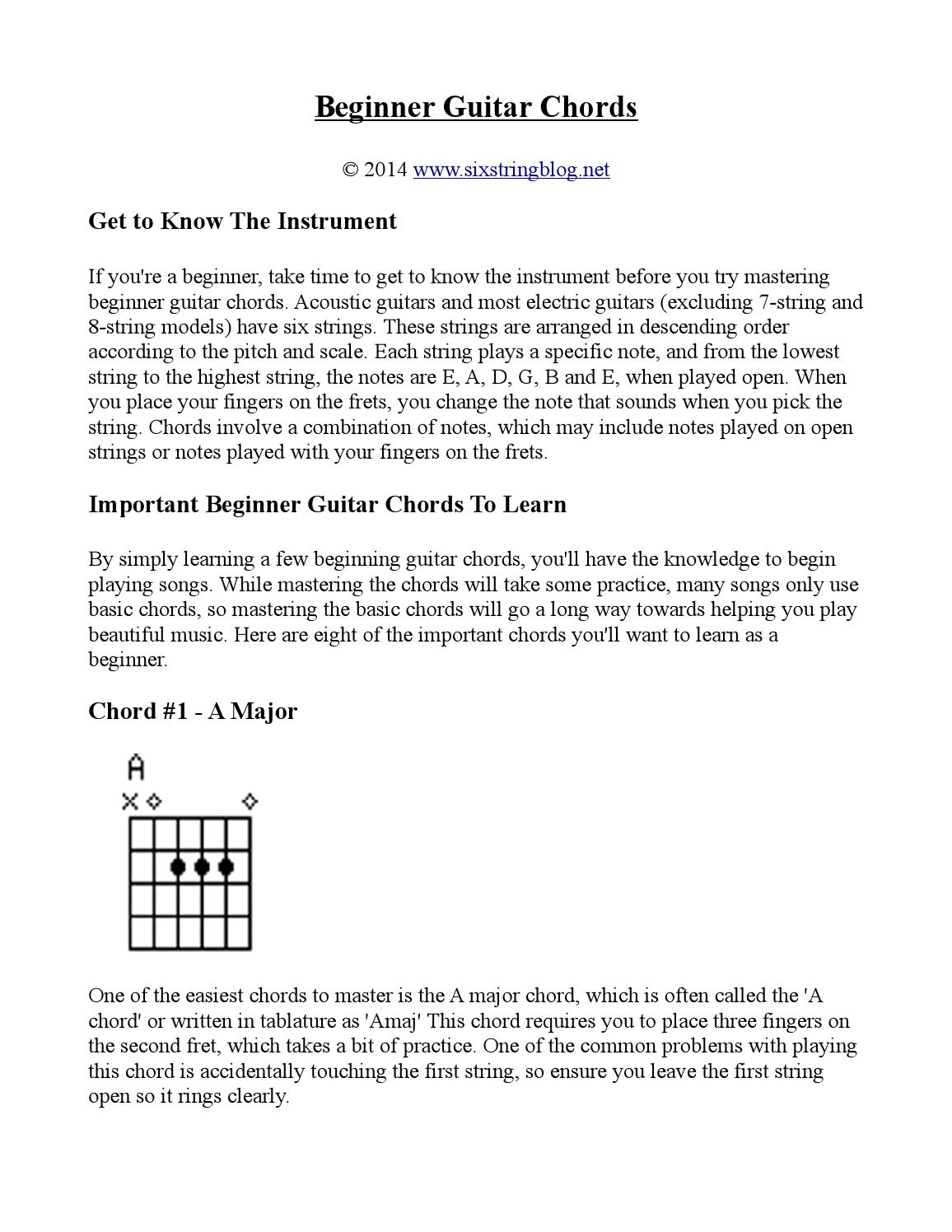 Beginner Guitar Chords By Chris Macrae Issuu