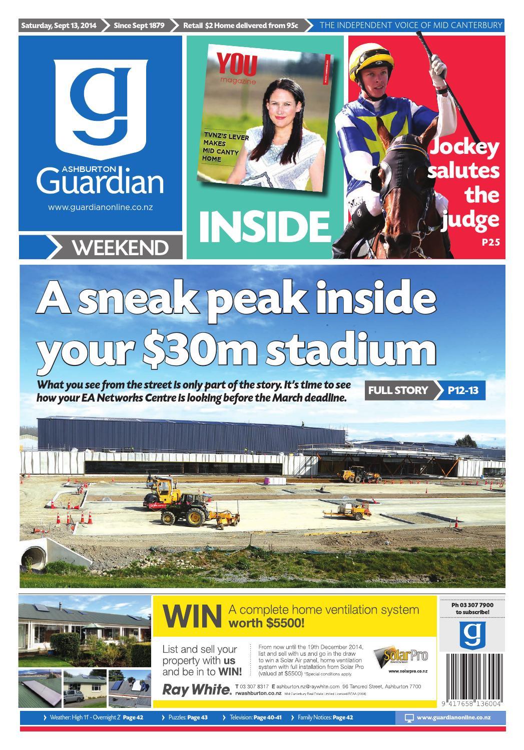 Ag 13 september, 2014 by Ashburton Guardian - issuu
