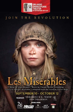 Les Misérables Program by Orlando Shakespeare Theater in