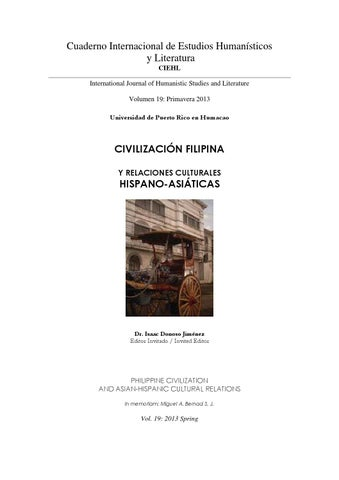Cuaderno Internacional de Estudios Humanísticos y Literatura CIEHL  International Journal of Humanistic Studies and Literature Volumen 19   Primavera 2013 ... 99ee5862f94a3