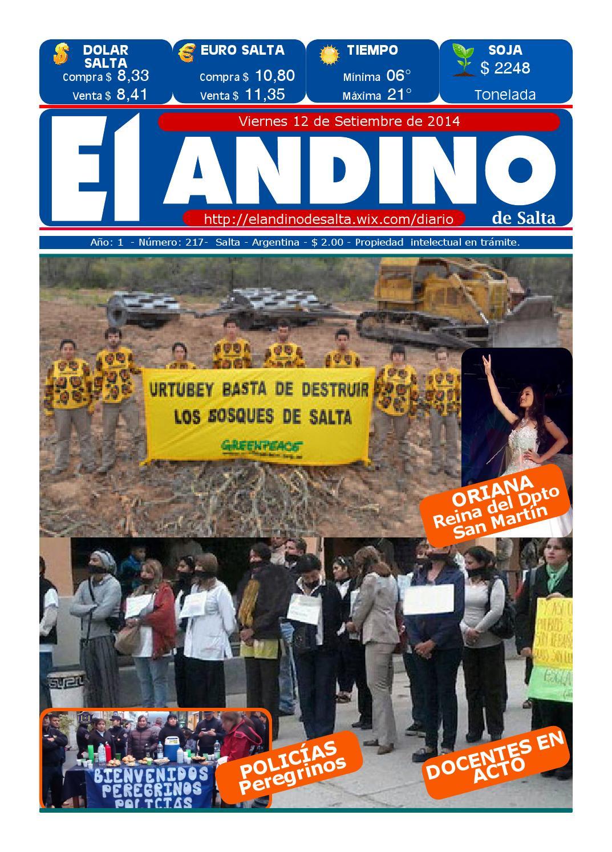 DIARIO EL ANDINO DE SALTA 12-09-2014 by DIARIO EL ANDINO