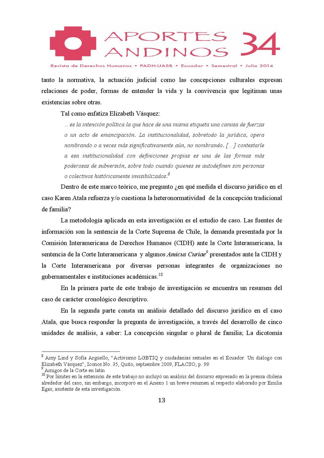 Aportes Andinos No. 34 by Programa Andino de Derechos Humanos - issuu