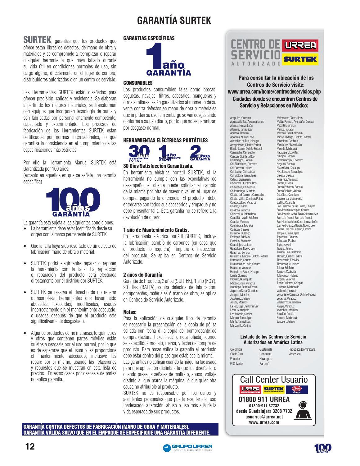 Catalogo De Herramientas Surtek Pdf
