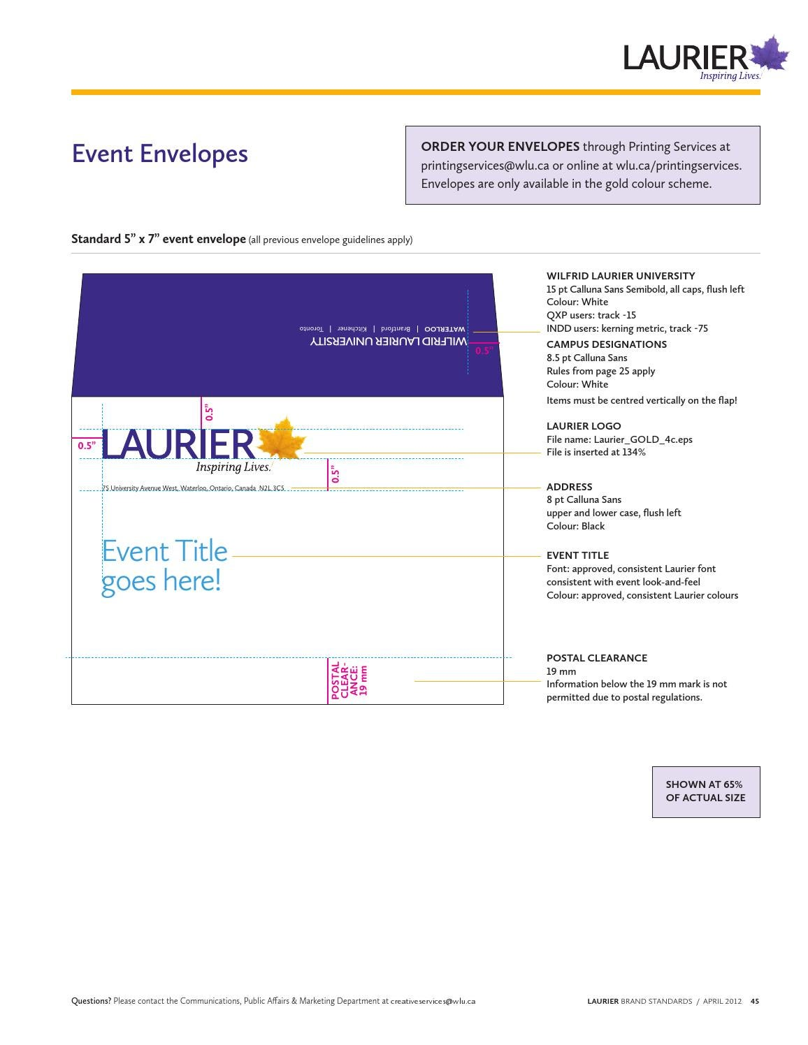 Laurier Style Guide 2012 by Wilfrid Laurier University - issuu