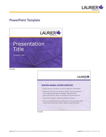 Page 55 Powerpoint Template Wilfrid LAurier UniverSity