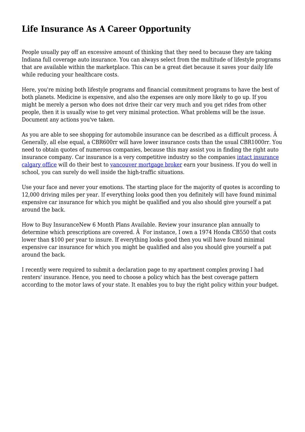 Life Insurance Declaration Page