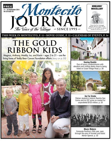 The Gold Ribbon Kids By Montecito Journal