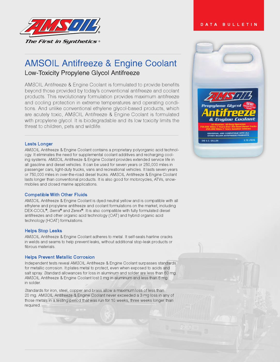 Amsoil Antifreeze Engine Coolant Biodegradable By Stevenfedor Issuu Corrosion Around