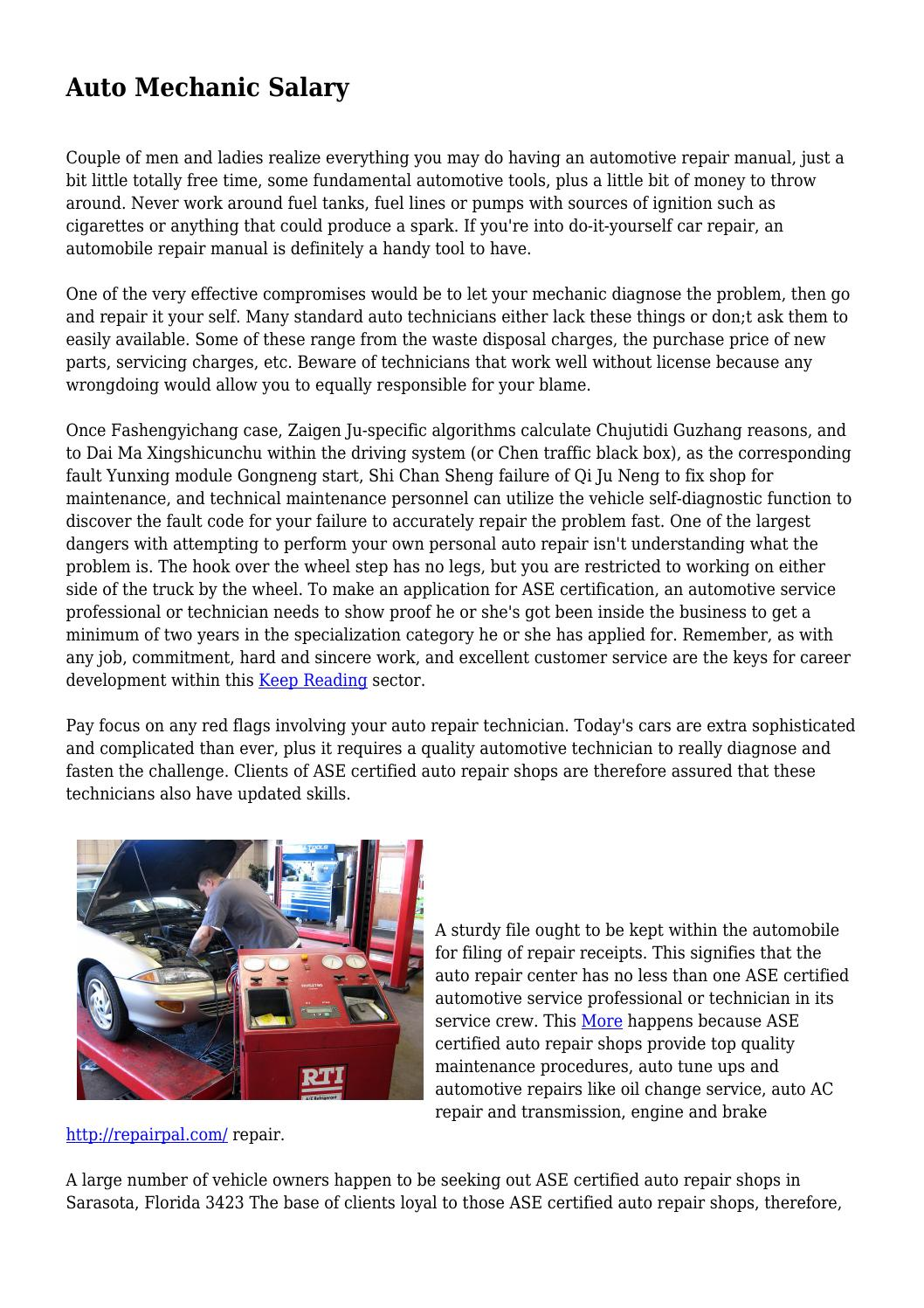 Auto Mechanic Salary By Saddeformity9089 Issuu