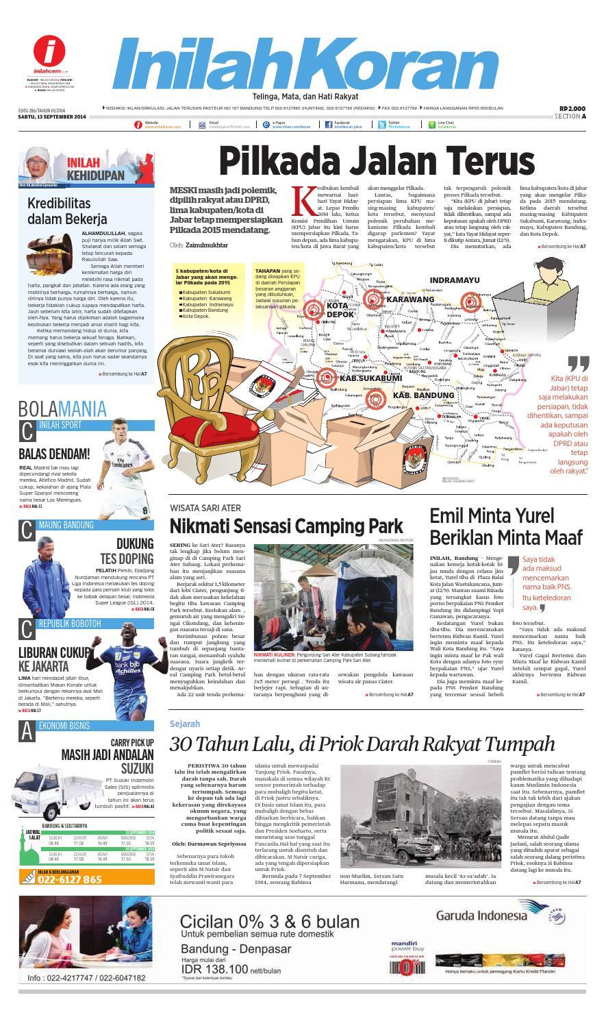 Pilkada Jalan Terus By Inilah Koran Issuu