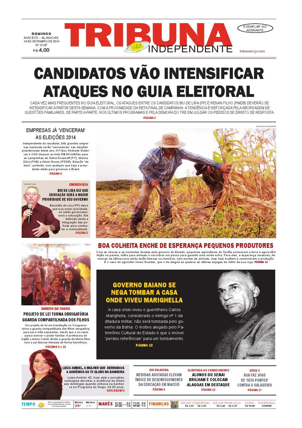 36a9633b22018 Edição número 2147 - 14 de setembro de 2014 by Tribuna Hoje - issuu