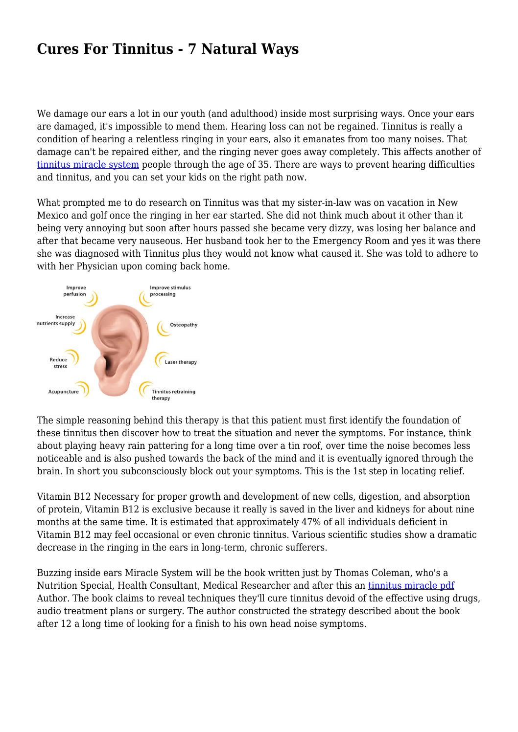 Cures For Tinnitus - 7 Natural Ways by lackingtag8975 - issuu