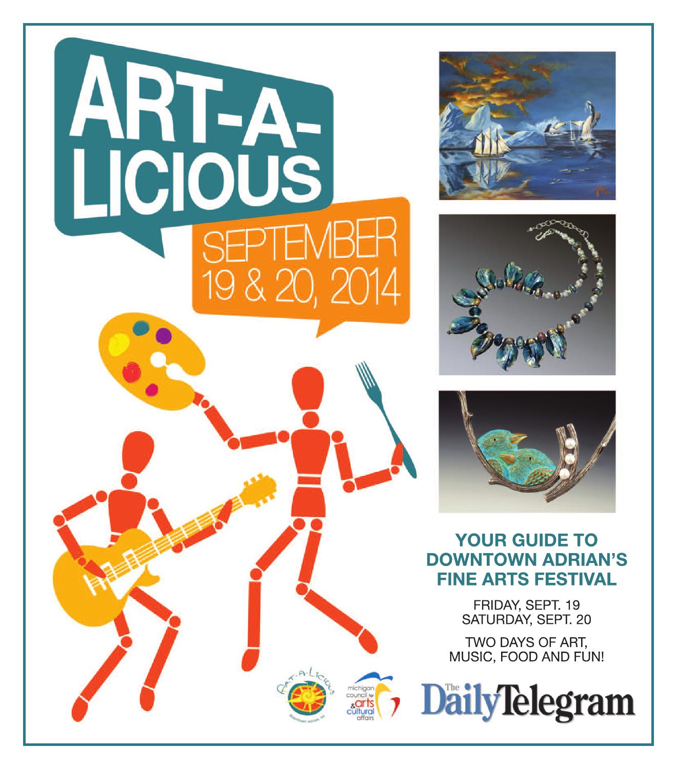 Art A Licious 2014 Program By Art A Licious Festival Issuu