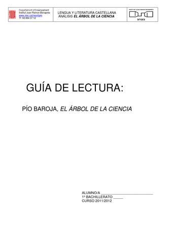 El rbol de la ciencia estudio by manuel gomez issuu for El arbol de la ciencia