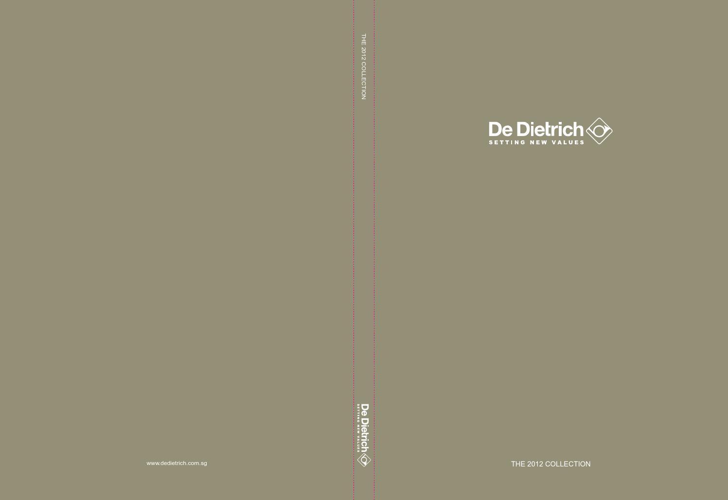 De Dietrich Catalogue 2012 Full Set By Dinhlu Issuu