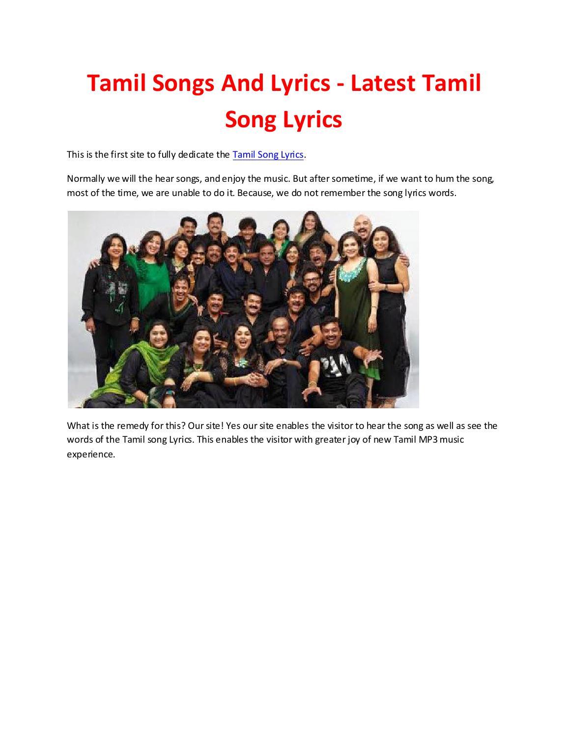 tamil song lyrics by subham sarkar issuu