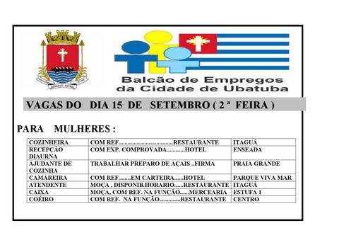 Cartaz Balcão de Empregos Municipal -Ubatuba 15  Set  70959ef5029d7