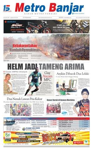 Metro Banjar Senin, 15 September 2014