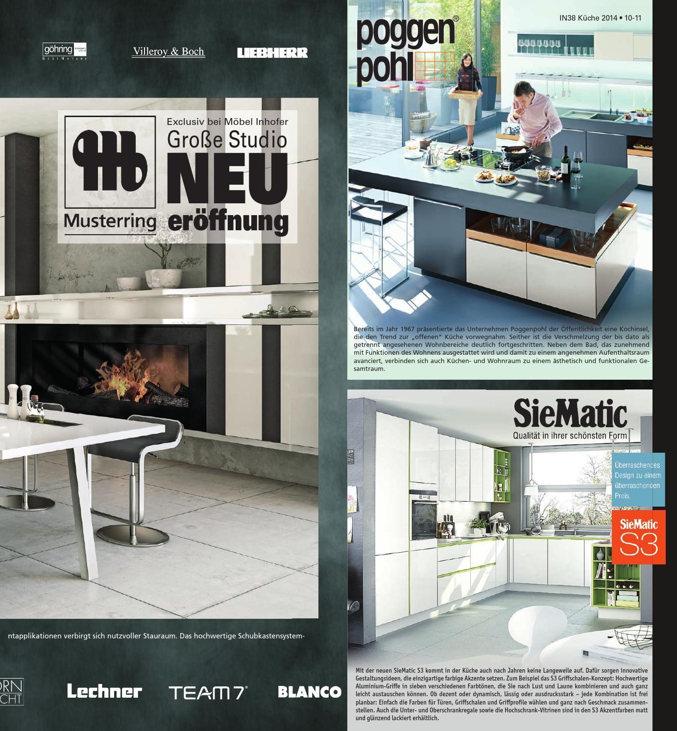 inhofer k chen und bad prospekt kw 38 by wolfram daur issuu. Black Bedroom Furniture Sets. Home Design Ideas