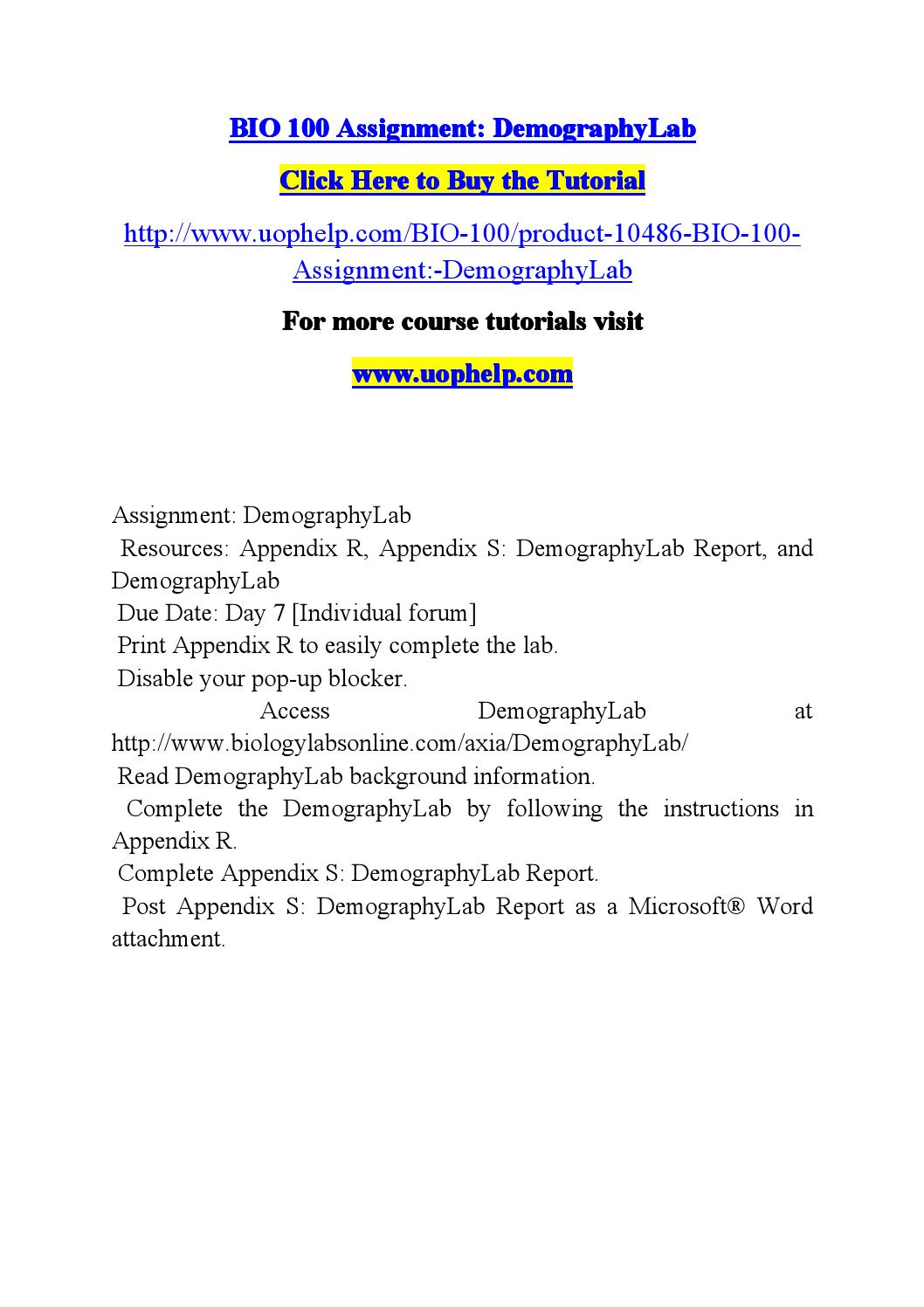 appendix s demography lab bio 100 Transcript of bio 100 demography lab answers study guide  bio 100 exam 4 exam answers answers guide bio 100 exam 4 more prezis by author popular presentations.