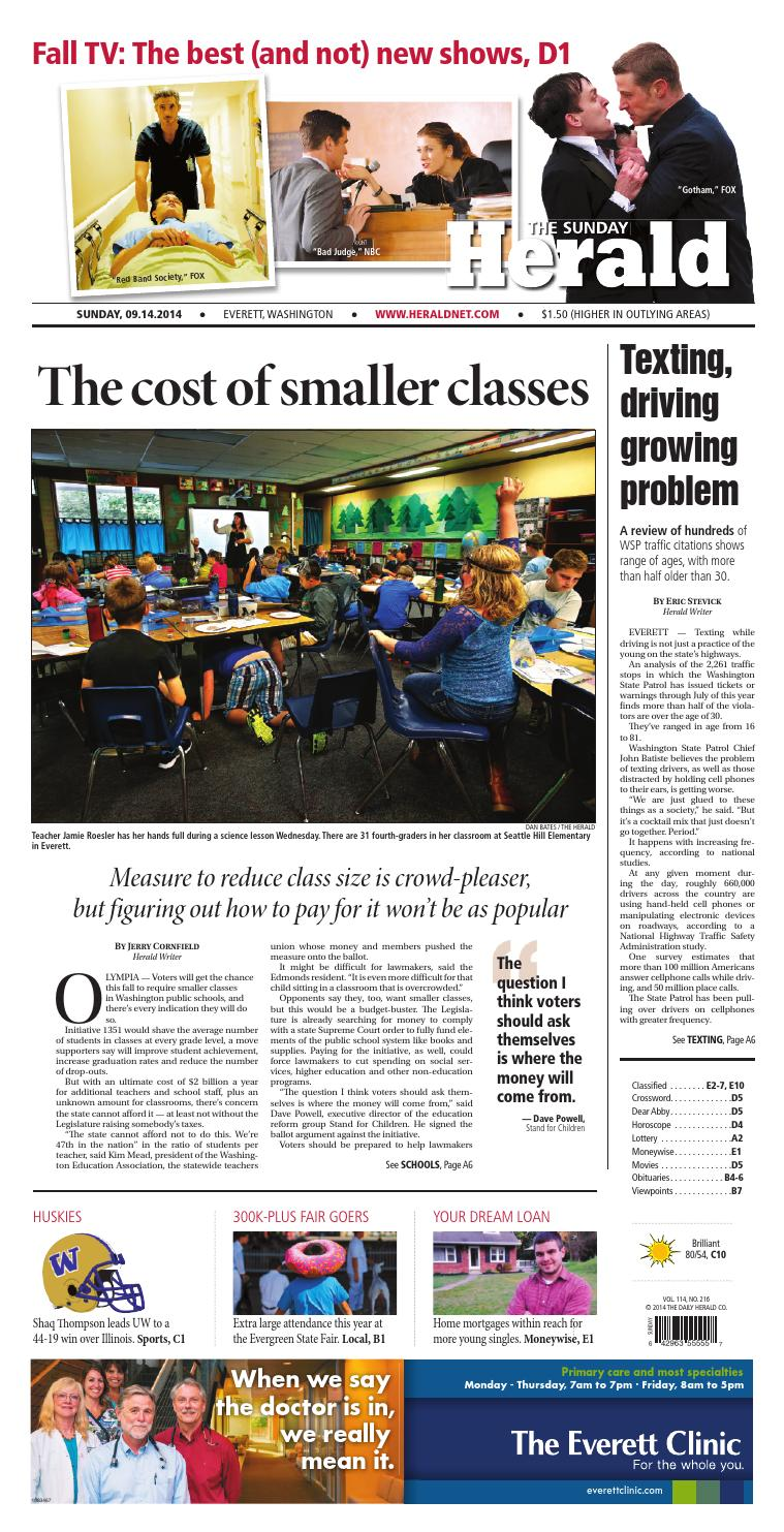 Everett Daily Herald, September 14, 2014 by Sound Publishing