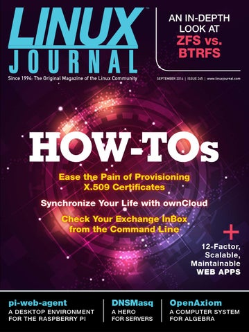 Linux journal september 2014 by bagas adi - issuu