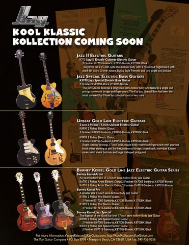 b4059085c0 KOOL KLASSIC KOLLECTION COMING SOON Jazz II Electric Guitars
