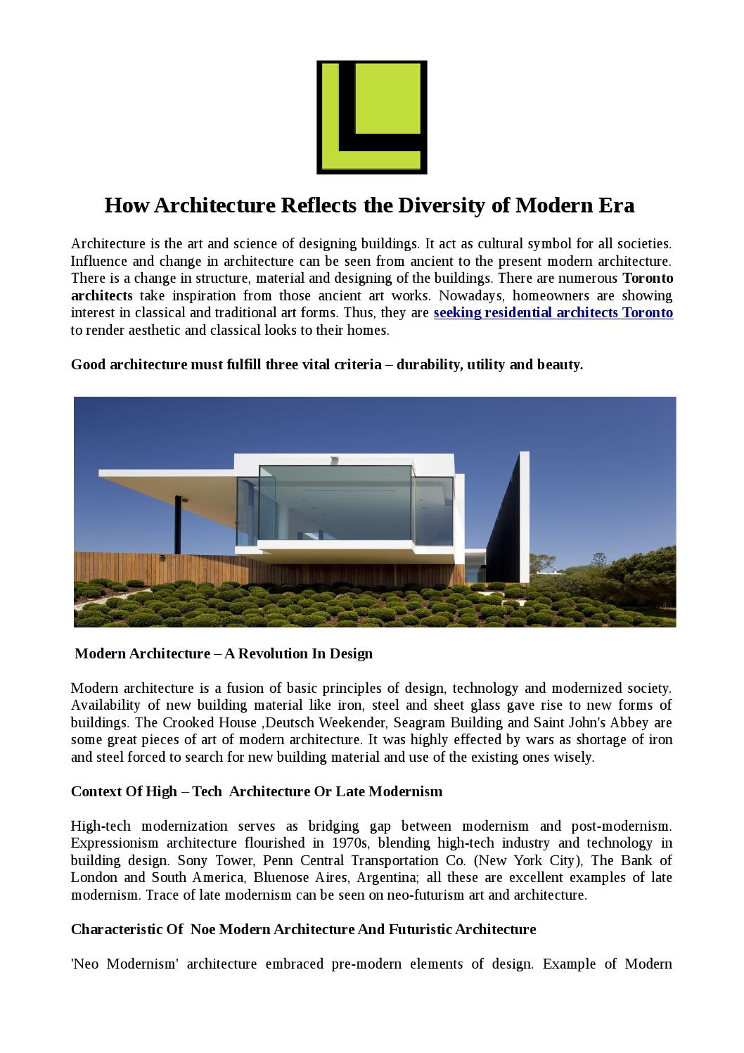 Toronto Architects Www Lindyconsulting Com By Lindy Consulting Issuu