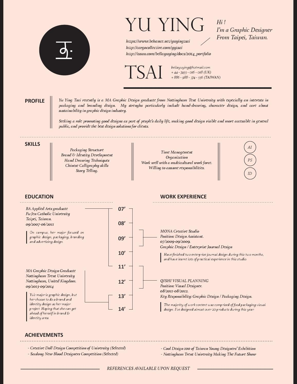 yu ying tsai 2014 by bella tsai