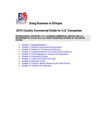 libraries ethiopia 956093 pdf files doing business in ethiopia 2014 country  commercial guide