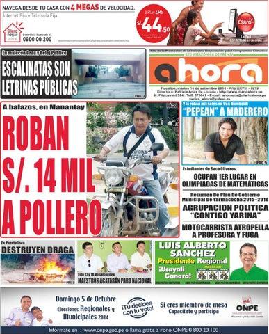 09 07 14 diario ahora ucayali by Jonatan Arias issuu