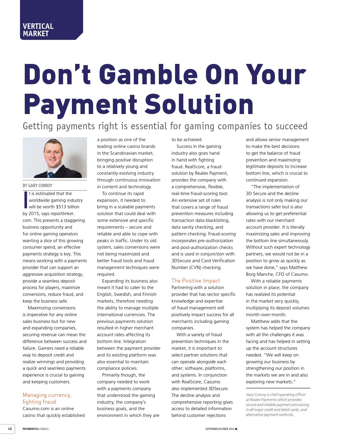 Payments Business Magazine SeptOct 2014 by Lloydmedia Inc