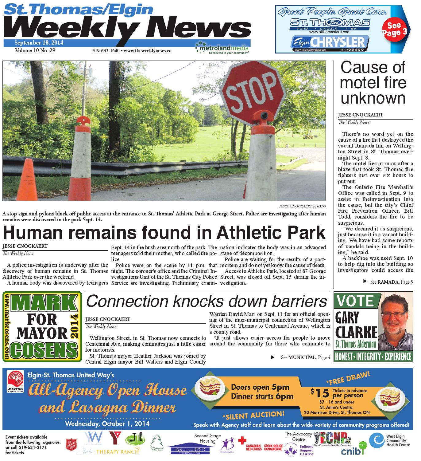 September 18 2014 by St Thomas Elgin Weekly News issuu