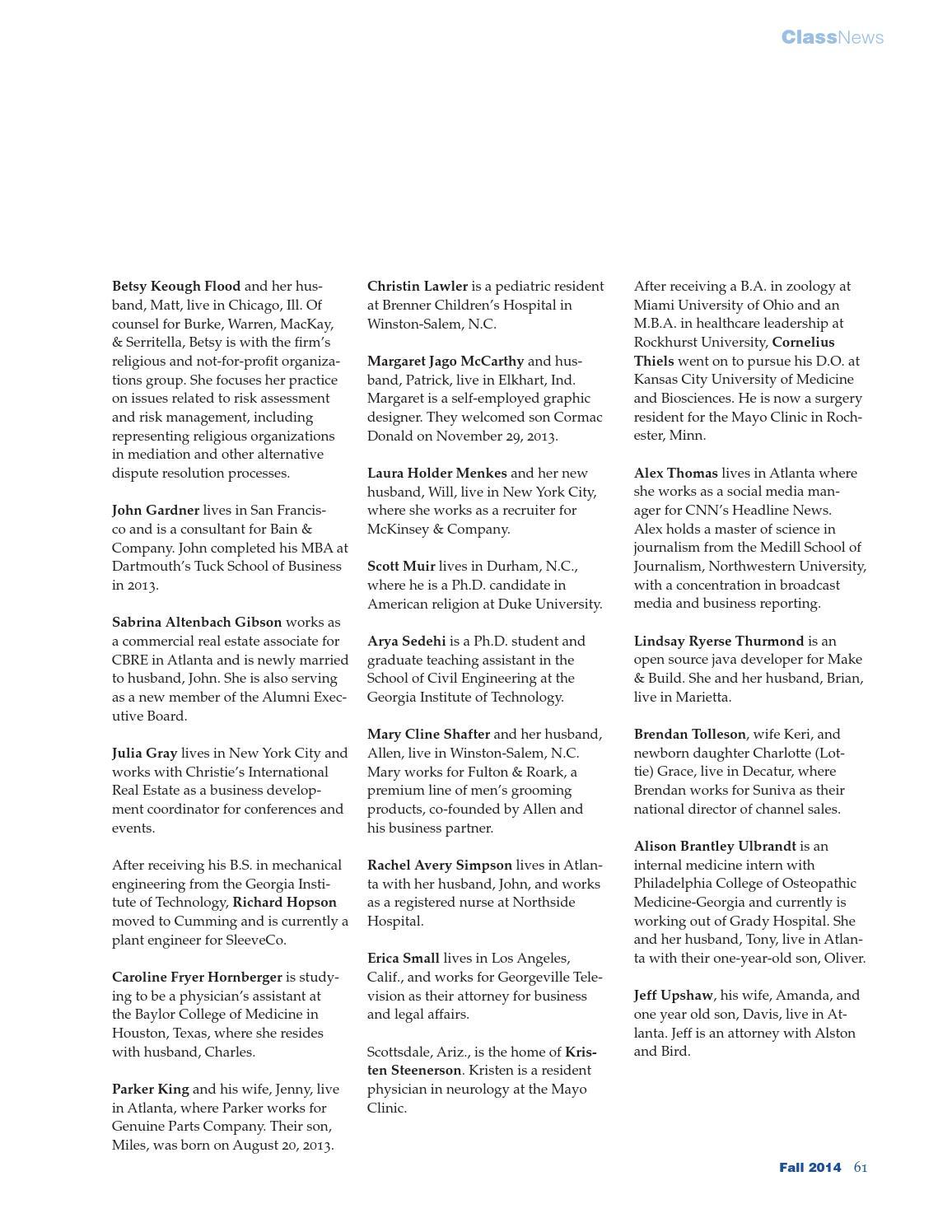 Lovett Magazine, Fall 2014 by The Lovett School - issuu