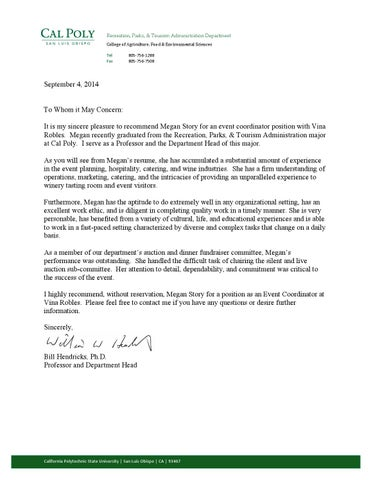 open when letter examples letter of recommendation for event coordinator by milstory 23857 | page 1 thumb large