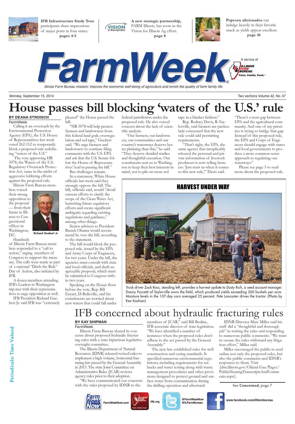 Farmweek september 15, 2014 by Illinois Farm Bureau - issuu