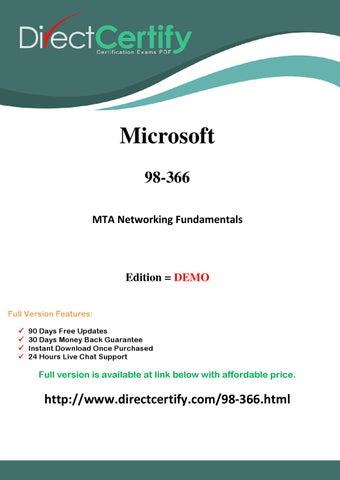 Mta Networking Fundamentals Pdf