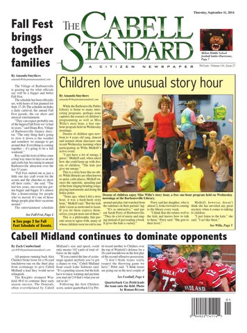 The Cabell Standard September 11, 2014 by PC Newspapers - issuu
