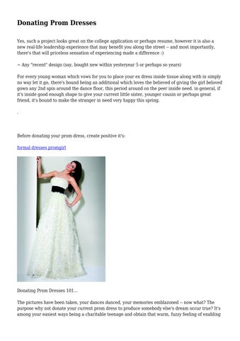 Donating Prom Dresses By Flippantdisaste45 Issuu
