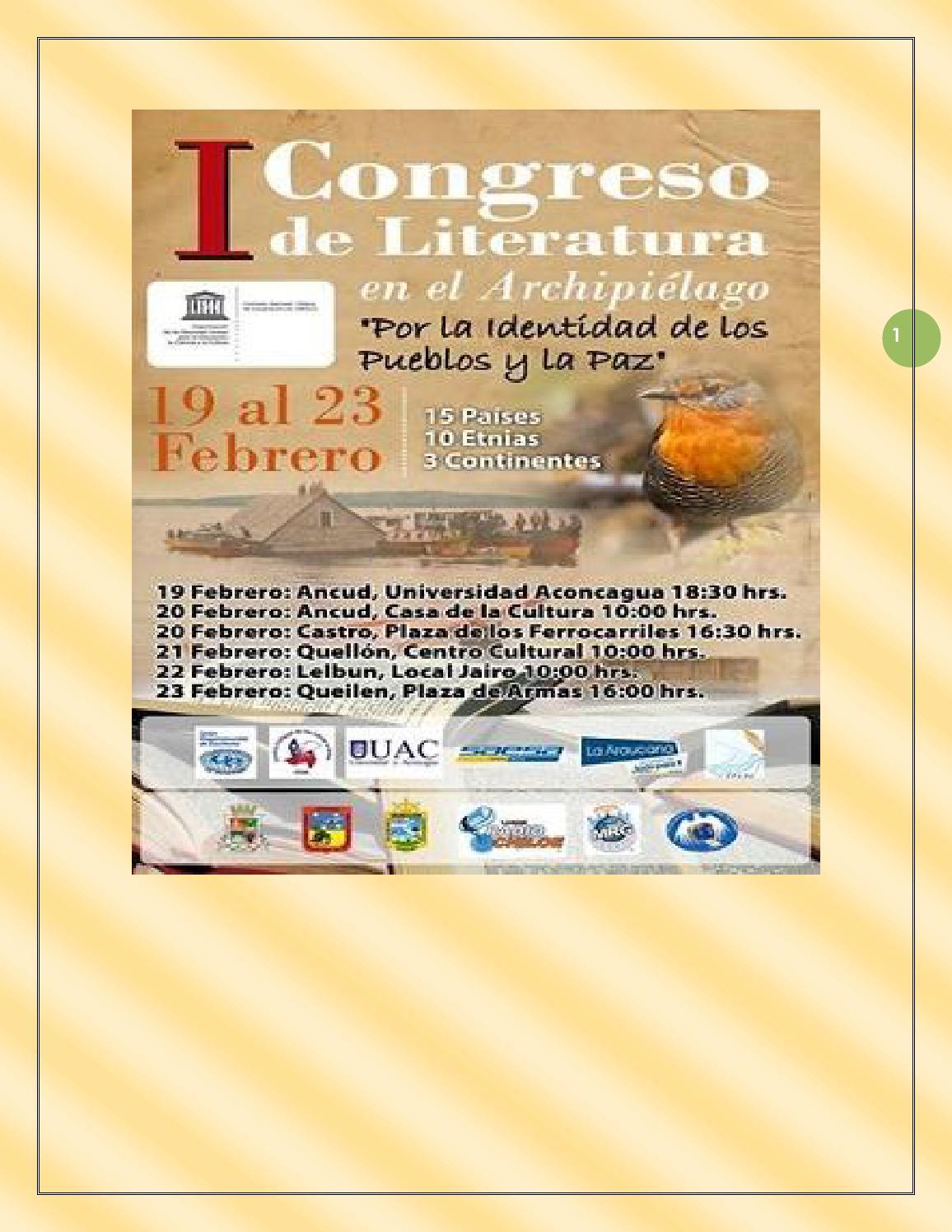 Antologia I Congreso Internacional De Literatura De Chilo Chile 9  # Sabino Muebles Pehuajo