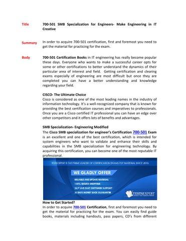 700 501 training kits by Halecox - issuu