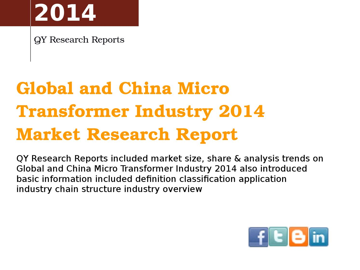 Global And China Micro Transformer Market 2017 Industry Trend Ysis Survey Overview By Marketresearch Issuu