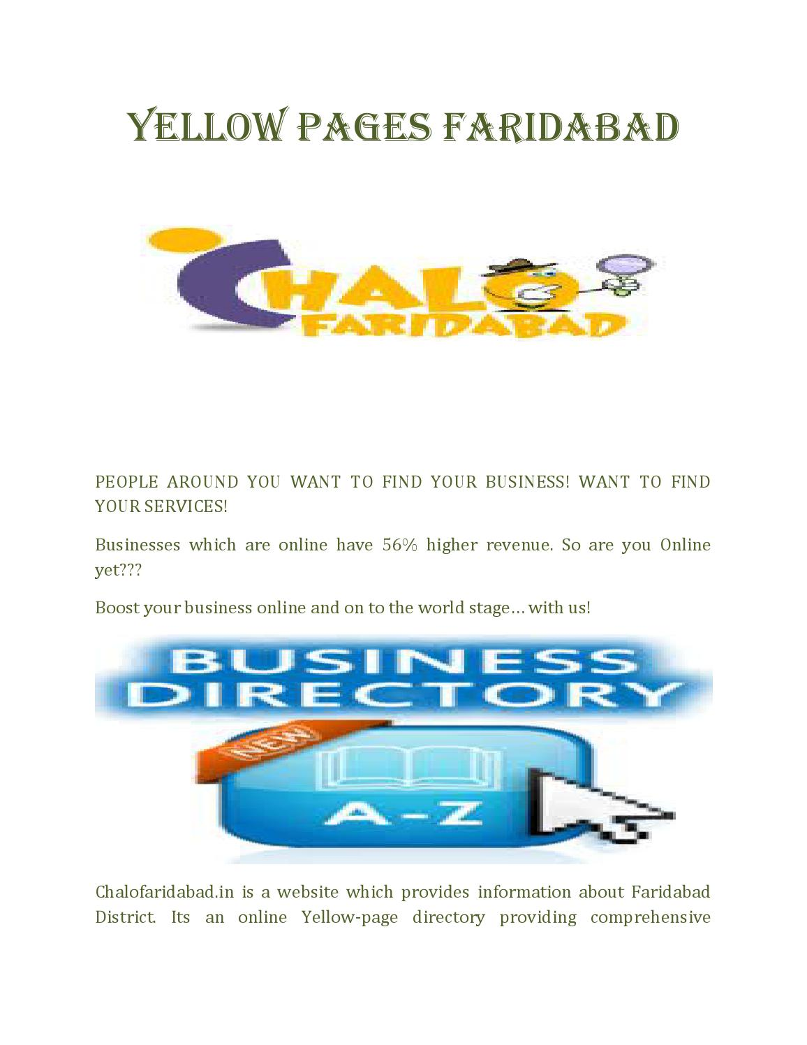 Chalo faridabad directory by umeshwebseeker - issuu